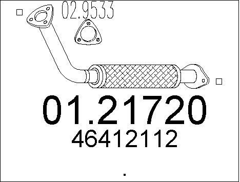 Tube d'echappement MTS 01.21720 (X1)