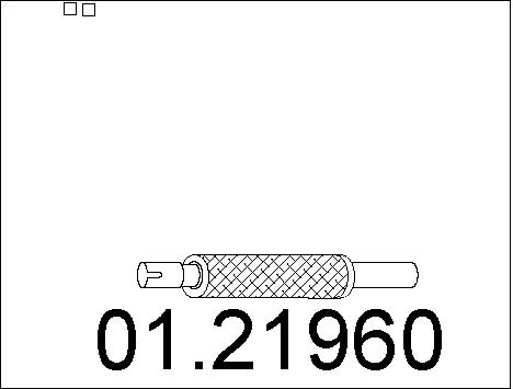 Tube d'echappement MTS 01.21960 (X1)