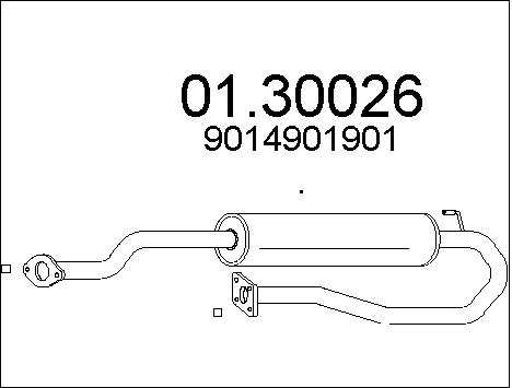 Silencieux avant MTS 01.30026 (X1)