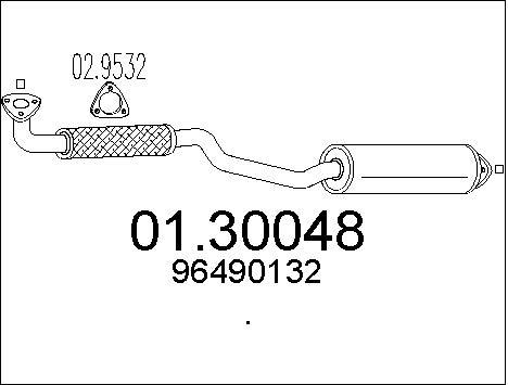 Silencieux avant MTS 01.30048 (X1)