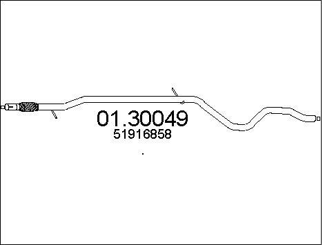 Silencieux avant MTS 01.30049 (X1)