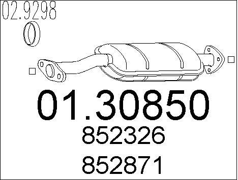 Silencieux avant MTS 01.30850 (X1)