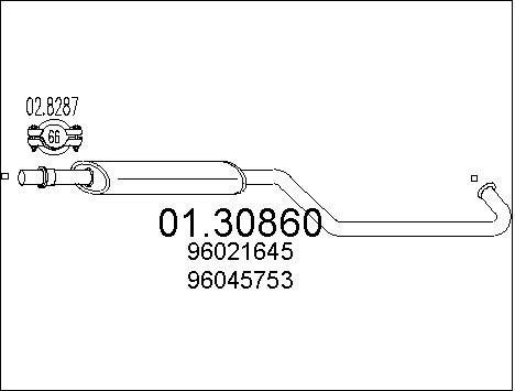 Silencieux avant MTS 01.30860 (X1)