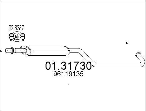 Silencieux avant MTS 01.31730 (X1)