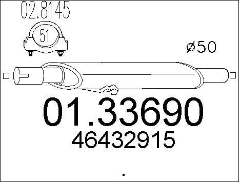 Silencieux avant MTS 01.33690 (X1)