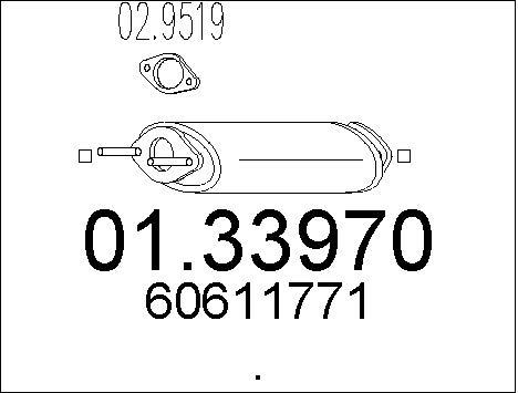 Silencieux avant MTS 01.33970 (X1)