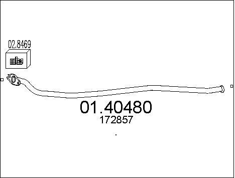 Tube d'echappement MTS 01.40480 (X1)