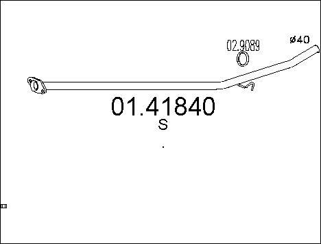 Tube d'echappement MTS 01.41840 (X1)