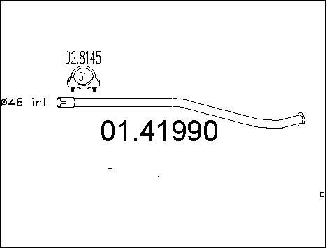 Tube d'echappement MTS 01.41990 (X1)