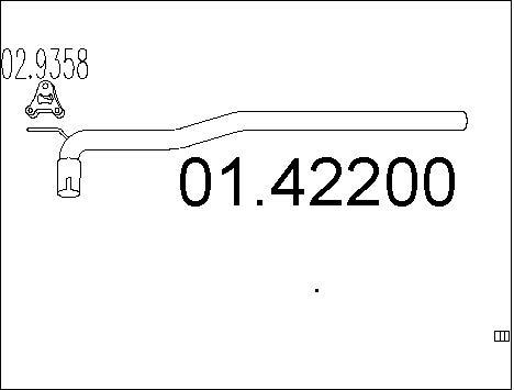 Tube d'echappement MTS 01.42200 (X1)