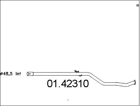 Tube d'echappement MTS 01.42310 (X1)