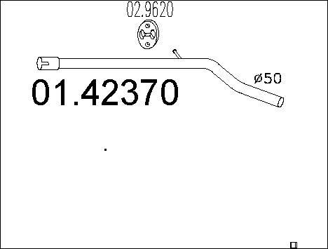 Tube d'echappement MTS 01.42370 (X1)