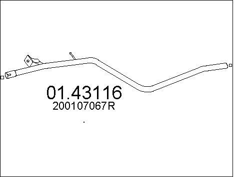 Tube d'echappement MTS 01.43116 (X1)