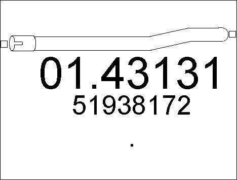 Tube d'echappement MTS 01.43131 (X1)