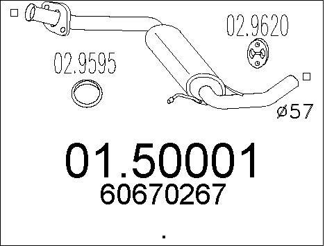 Silencieux central MTS 01.50001 (X1)