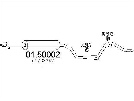 Silencieux central MTS 01.50002 (X1)