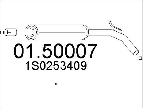 Silencieux central MTS 01.50007 (X1)