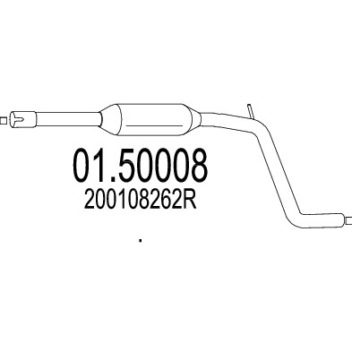 Silencieux central MTS 01.50008 (X1)