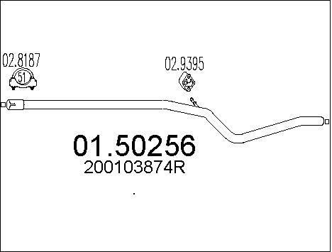 Silencieux central MTS 01.50256 (X1)