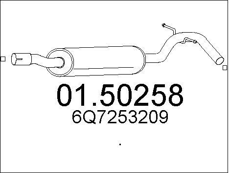 Silencieux central MTS 01.50258 (X1)