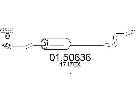 Silencieux central MTS 01.50636 (X1)