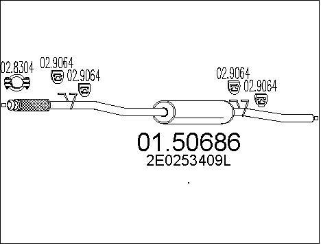Silencieux central MTS 01.50686 (X1)