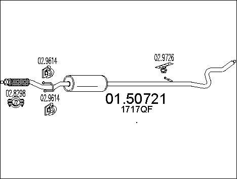 Silencieux central MTS 01.50721 (X1)