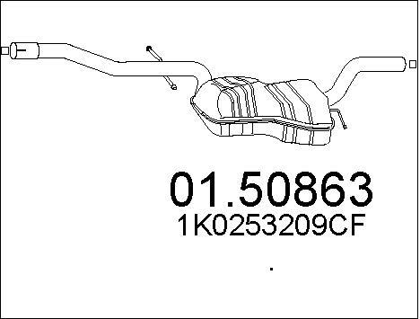 Silencieux central MTS 01.50863 (X1)