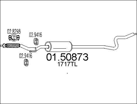 Silencieux central MTS 01.50873 (X1)