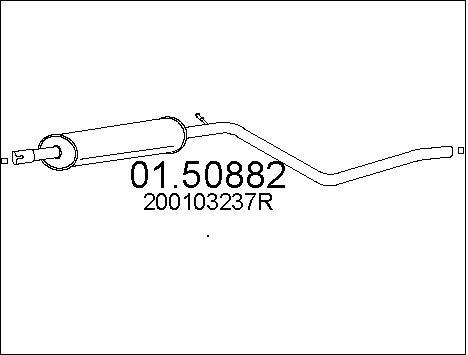 Silencieux central MTS 01.50882 (X1)