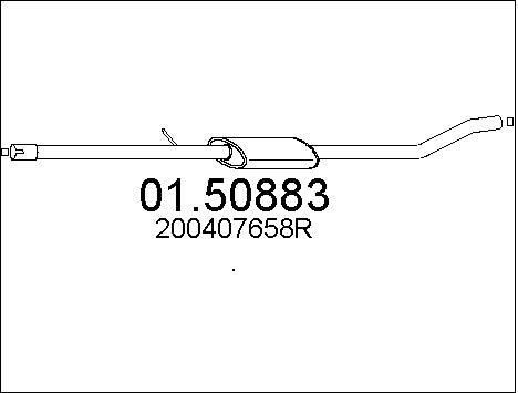 Silencieux central MTS 01.50883 (X1)