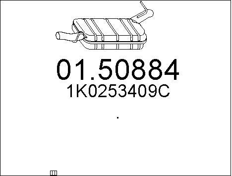 Silencieux central MTS 01.50884 (X1)