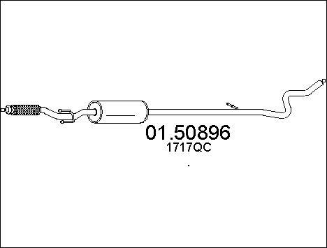 Silencieux central MTS 01.50896 (X1)
