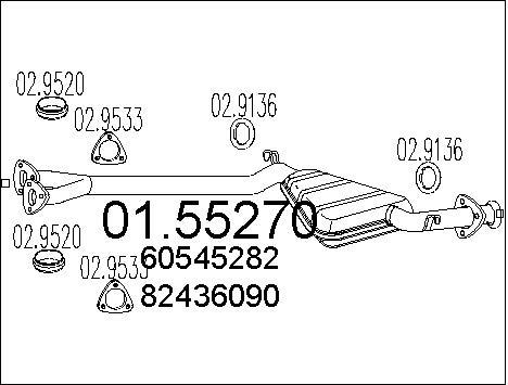 Silencieux central MTS 01.55270 (X1)
