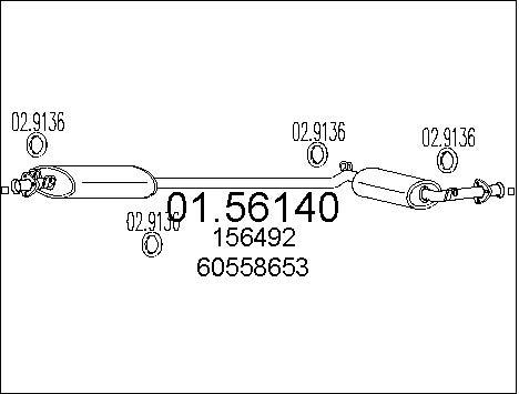 Silencieux central MTS 01.56140 (X1)