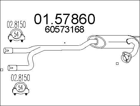 Silencieux central MTS 01.57860 (X1)