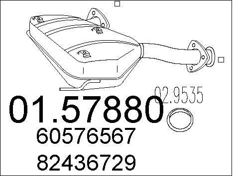 Silencieux central MTS 01.57880 (X1)