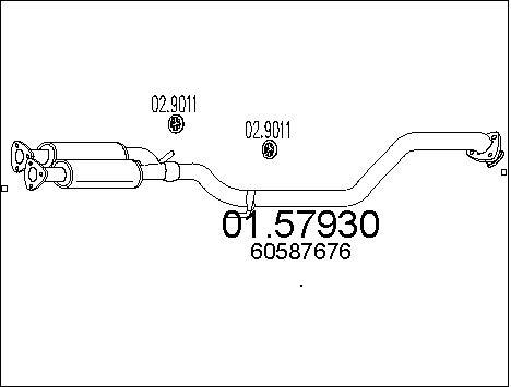 Silencieux central MTS 01.57930 (X1)