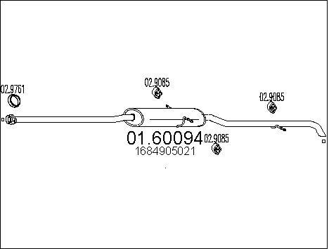 Silencieux MTS 01.60094 (X1)