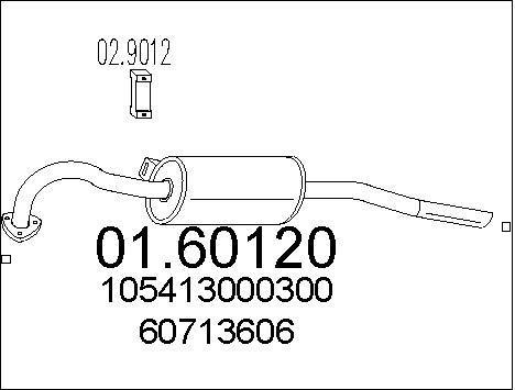 Silencieux arriere MTS 01.60120 (X1)
