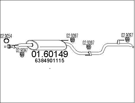 Silencieux MTS 01.60149 (X1)