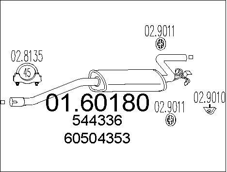 Silencieux arriere MTS 01.60180 (X1)