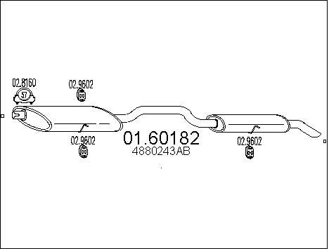 Silencieux arriere MTS 01.60182 (X1)