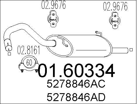 Silencieux arriere MTS 01.60334 (X1)