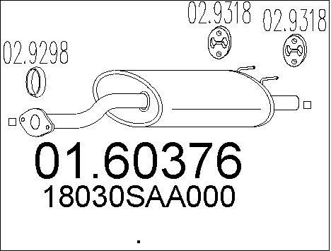 Silencieux arriere MTS 01.60376 (X1)