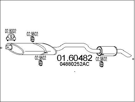 Silencieux arriere MTS 01.60482 (X1)