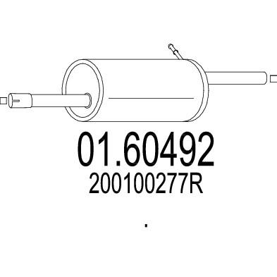 Silencieux arriere MTS 01.60492 (X1)