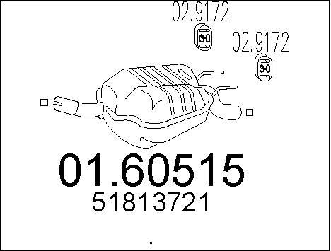Silencieux arriere MTS 01.60515 (X1)