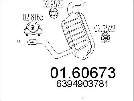 Silencieux MTS 01.60673 (X1)