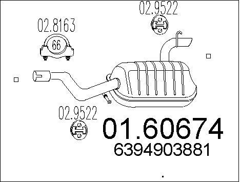 Silencieux MTS 01.60674 (X1)
